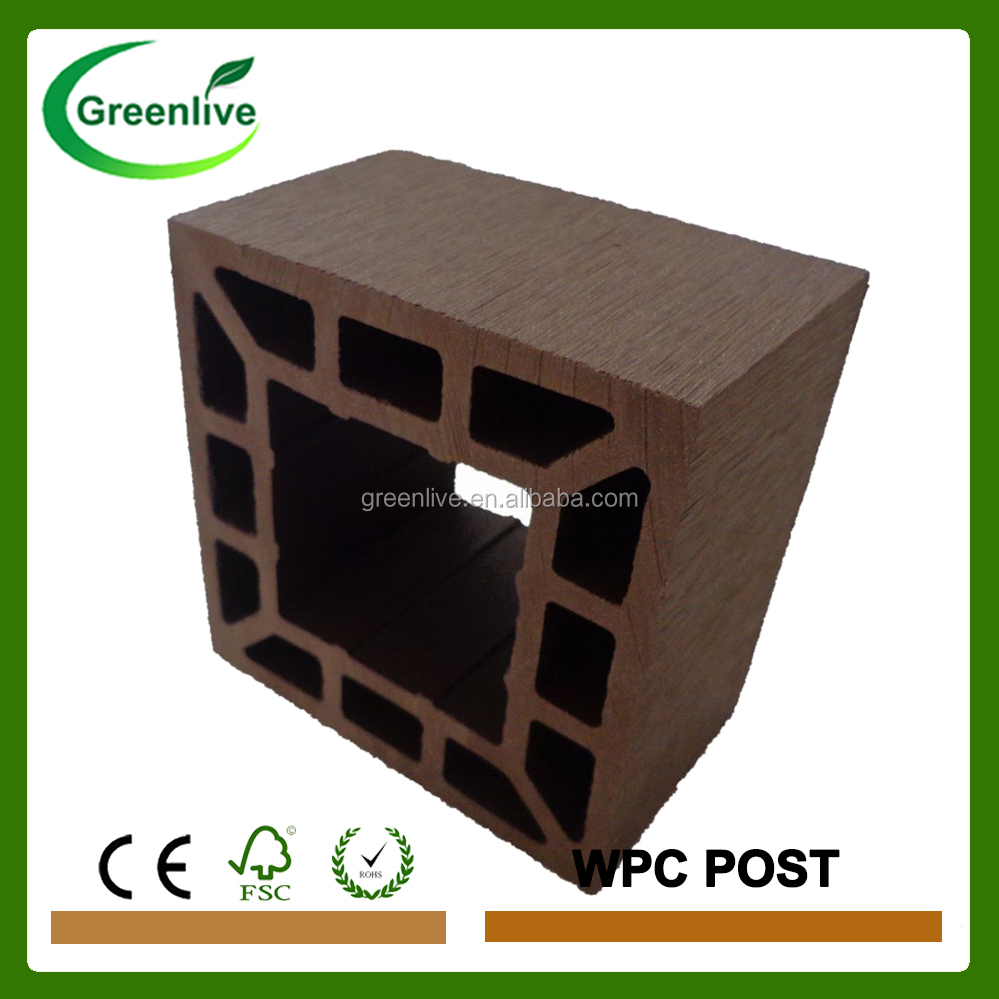 Recycled wood plastic composite fence post