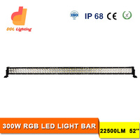 2013 new product p6 led bar graph display xxx phot 12V 300w 52 inch car offroad light bar with wireless remote control