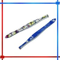 HT007 professional cosmetic rainbow coloured pointed eyebrow tweezers