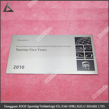 metal card for business or souvenir
