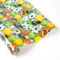 Victor Crafts Wholesale Factory paper wrapping machine printing Sports Balls deisgn gift paper