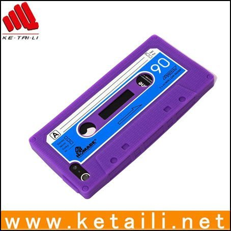 For silicone iphone 5 cassette tape case