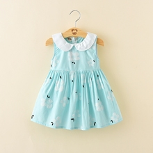 Cheap price doll collar umbrella dress for hot summer
