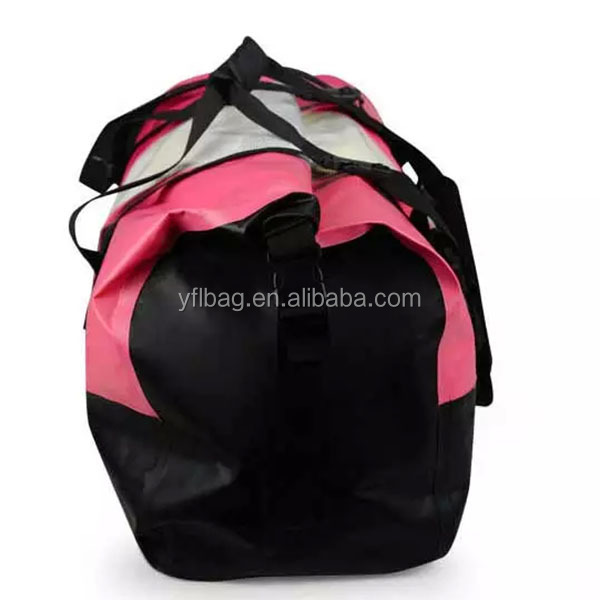 fashion stylish rolling waterproof pvc tarpaulin duffel bag 45l