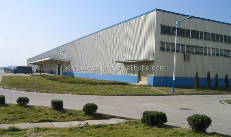 pre engineered steel industrial building with office