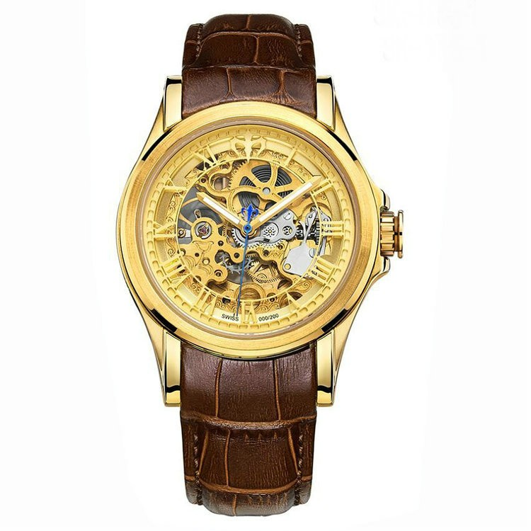 2016 new design high end wrist watches genuine leather