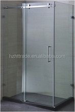 Bathroom 8mm 10mm stainless steel wheel easy cleaning shower slide glass doors