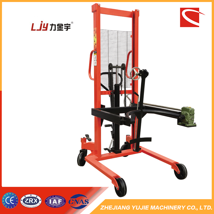 Hot 0.35 tons hydraulic forklift manual forklift drum lifter
