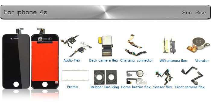 No Dead Pixel Lcd For Iphone 4S LCD Complete,For Iphone 4S Lcd Screen Accept Paypal!!!