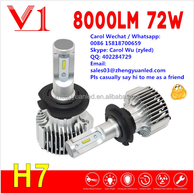 Grasp Amazing Bright 72W led h4 cheap car led headlight pk h7 led h11 8000 lumen headlight halogen bulb electric car accessories