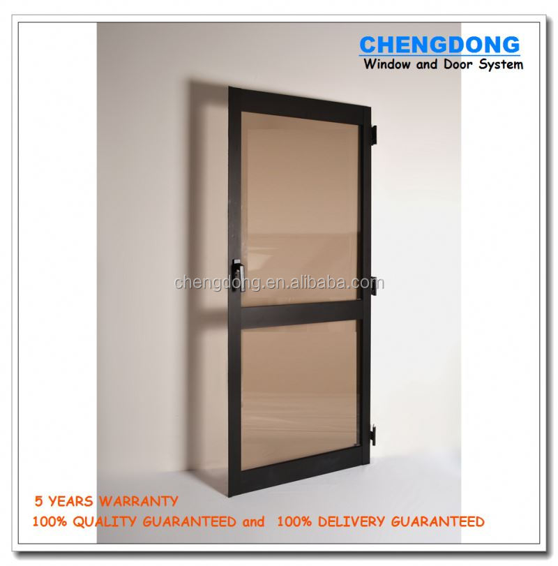 double leaf front door design modern flush door pvc window and door price SC-P103