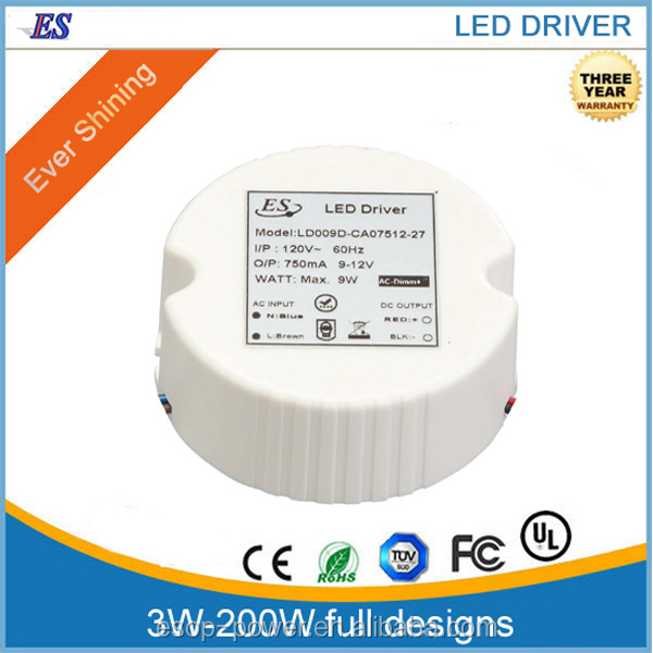 led driver 180ma,9w Constant Current LED Driver power supply with Triac Dimmer
