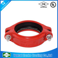 ductile iron pipe mechanical sleeve flexible coupling