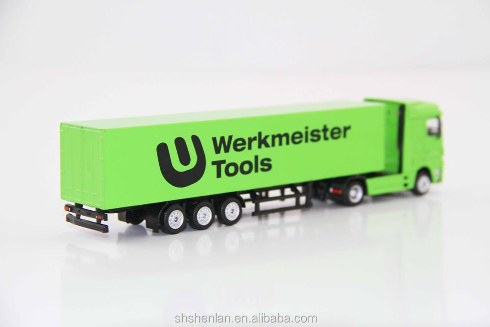 Scale 1:87, 7.87 inches long, mini container truck model Werkmeister Tools