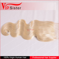 custom hair packaging boxes blonde hair lace front closure 4*4 body wave