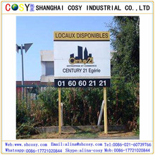 High quality 18x24 PP Corrugated Sheet / Coroplast / Coreflute Sheet With H Stake Plastic Board Yard Signs