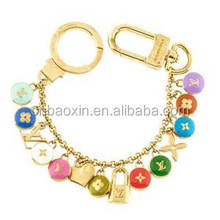 Fashion Gold Color Chains Key Ring Bag Charms