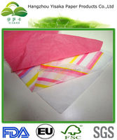 customized printed tissue paper with different colours