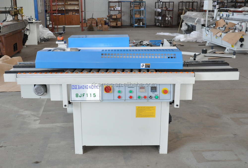 BJF115 semi automatic edge bander with manual end cutting