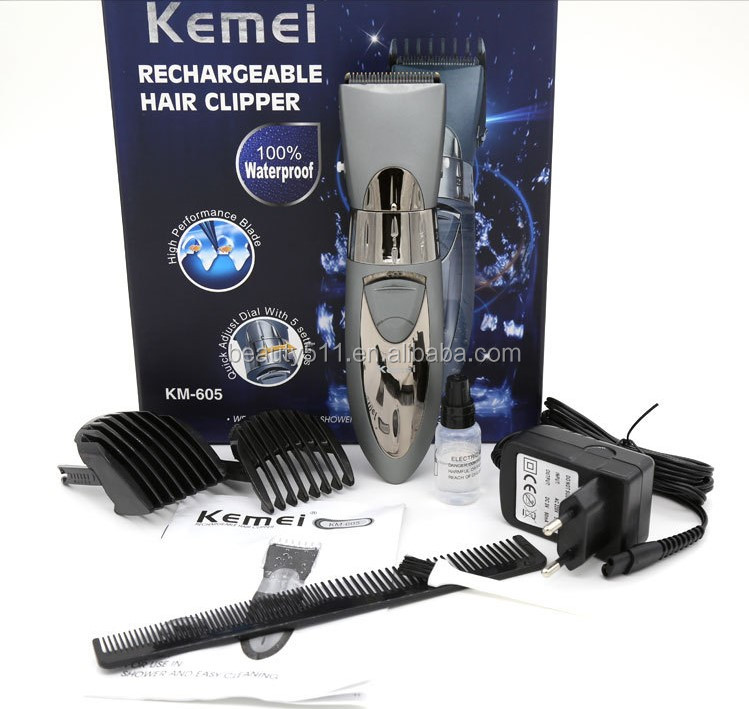 Professional Rechargeable Household Electric hair clipper/cutter Salon KM-605