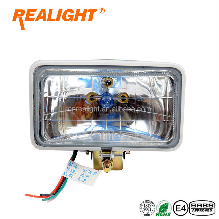 high quality REALIGHT 4 inch Square 150 Headlight Auto Halogen Sealed Beam