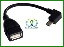 10cm Short Right Angel Micro USB Host OTG Adapter Cable