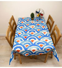 eco-friendly flower designs heat transferred printed tablecloth