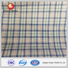 best selling green and white check fabric with low price
