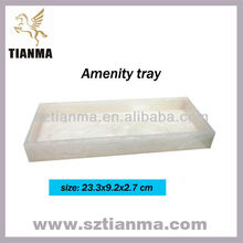 Wholesale square white acrylic amenity tray