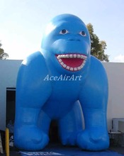 Giant outdoor blue Inflatable Gorilla for Advertising outside advertising and sales