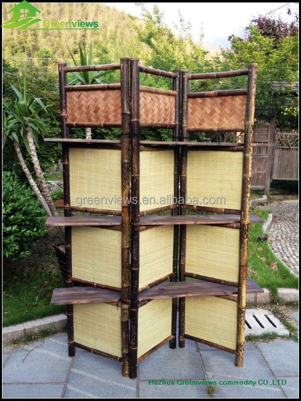 Outdoor folding screen cheap movable foldable living for Portable garden screen