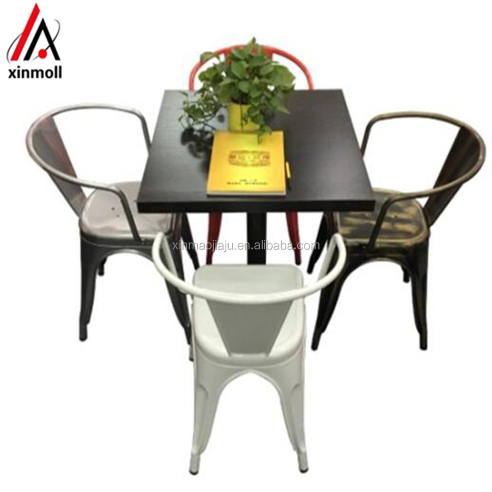 Durable metal dining restaurant table and chairs sets suppliers