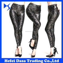 European High Quality 3D Print Snake Pattern Gold Stamp Tights Leggings Sexy Leggings Fitness