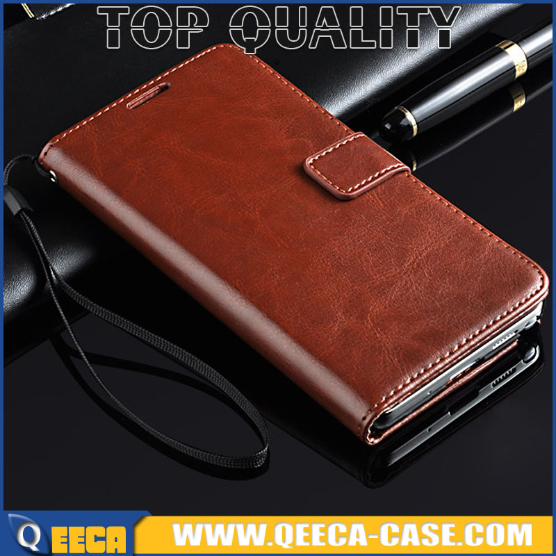 5.7' Luxury Premium Crazy Horse Skin PU leather card holder flip wallet leather case cover for Galaxy Note 3 N9000
