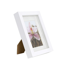 Small white 5x7 6x6 8x8 wood photo picture frame manufacturer