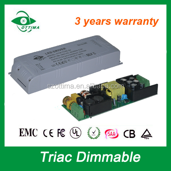 led driver 24v dc triac dimmable led driver module 12w 20w 30w 40w 60w 80w constant voltage saa ce etl list