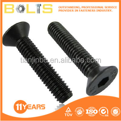 flat countersunk hex socket machine screws