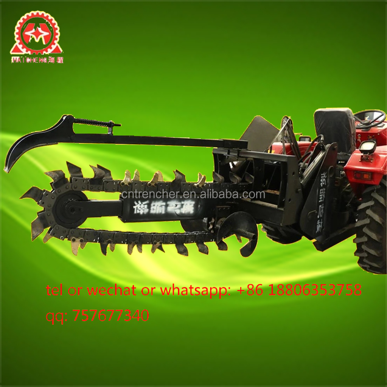 high efficiency 3 point hitch tractor trencher machine