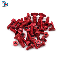 High precision products socket head cap m3 colourful Anodized Aluminum Screw