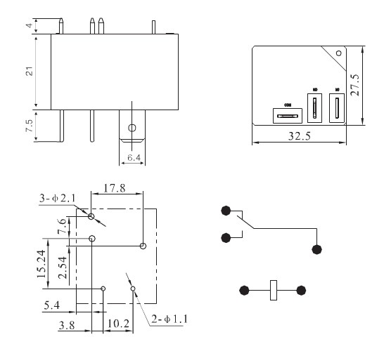 high power pcb relay