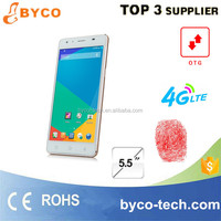 5.5 inch HD touch 4G lte wifi smart phone /low price android phone/finger print mobilephone