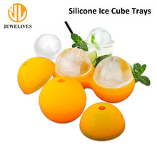 100% food grade silicone ball shaped ice cube tray