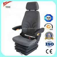 Luxury Mechanical suspension driver seat Motor Graders swivel chair