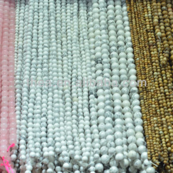 For jewelry making high quality white turquoise beads 6mm 8mm 10mm like the shower curtain wholesale alibaba
