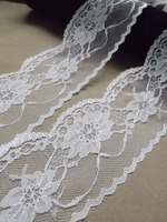 White cotton lace trim /african lace embroidery design for lady dress hoe sale