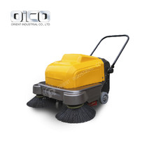 Walk Behind Hand Sweeper Machine Vacuum Leaf Cleaner Pavement Sweeper
