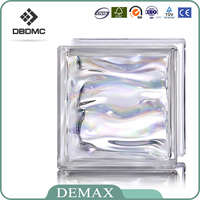 China Shandong Glass Wholesale Green Parallel GlassBrick chinese glass block and brick for buildings