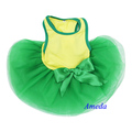 Yellow Green World Cup Football Flag Brazil Dogs Pets Clothes Party Dress XS-L