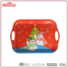 Santas Claus design melamine tray serving Christmas partyware