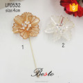China wholesale rhinestone flower metal custom lapel pin for birthday gift